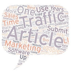 How One Simple Article Got Floods Of Visitors vector image