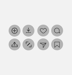 Icon sign or symbol element 17 vector
