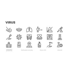 icons about viral epidemic protection from vector image
