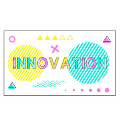innovation poster geometric figures in linear vector image
