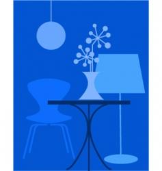 Interior furniture vector