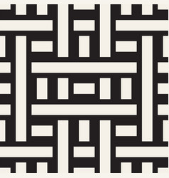 Interlacing lines maze lattice ethnic monochrome vector