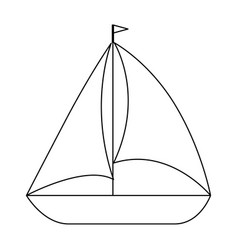 isolated sailboat icon vector image