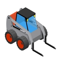 Isometric icon representing gray mini loader vector image
