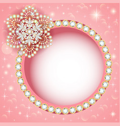 Jewelry background with gold and precious stones vector