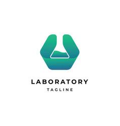 laboratory symbol logo design template vector image