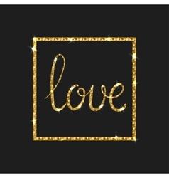 Love card Modern brush calligraphy vector image