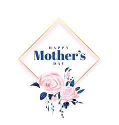 Lovely happy mothers day flower card design vector