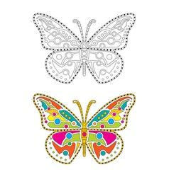 Mandala Butterfly vector