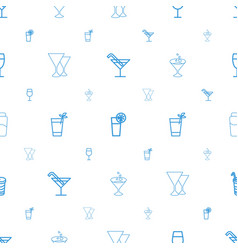 Martini icons pattern seamless white background vector