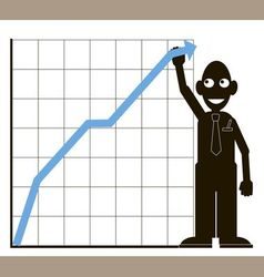men graph vector image