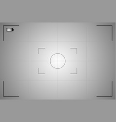 Modern camera focusing screen vector