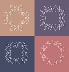 Monogram collection vector