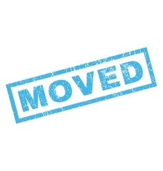 Moved Rubber Stamp vector