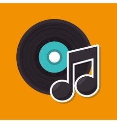music retro vinyl icon vector image