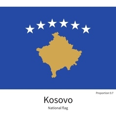 National flag of Kosovo with correct proportions vector