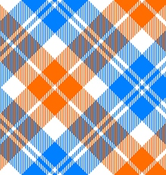 orange and blue light tartan diagonal seamless vector image