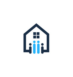 people house logo icon design vector image