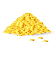 Pile of gold coins vector image