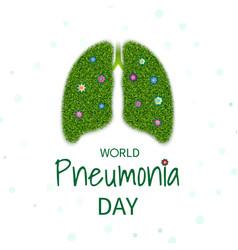 Pneumonia day vector