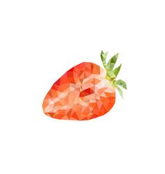 Polygonal strawberry vector