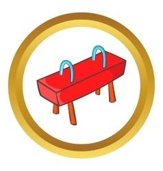 Pommel horse icon vector