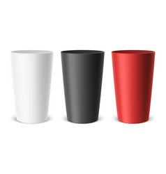 Realistic empty plastic cup example for vector
