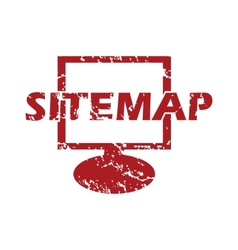 Red grunge sitemap logo vector