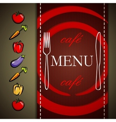 restaurant menu design with vegetables vector image
