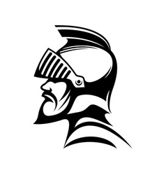 roman warrior in helmet isolated medieval spartan vector image