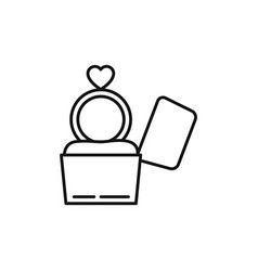 romantic passion love line style vector image