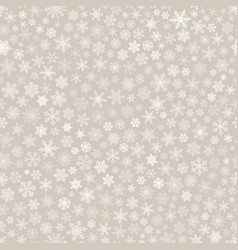 seamless pattern of snowflakes white on beige vector image