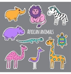 Set African animals vector image