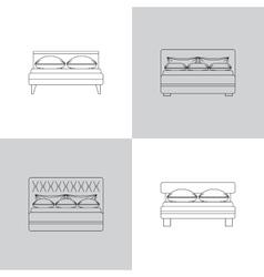 set bed outline vector image
