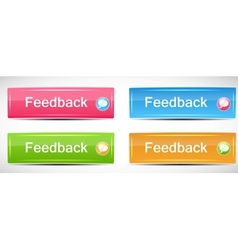 Shiny rectangle menu buttons vector