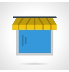 Showcase with awning icon vector