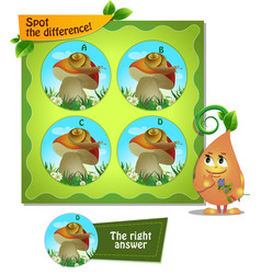 Snail mushroom difference vector