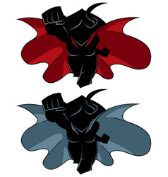 superheroine coming silhouette vector image