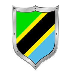 Tanzania flag button vector image