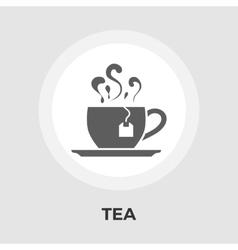 Tea flat icon vector