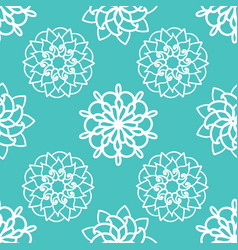 traditional ornamental flower mandala vector image