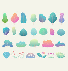 trendy and beautiful gradient color simple flat vector image
