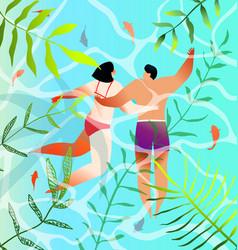 turquoise water tropical paradise honeymoon vector image