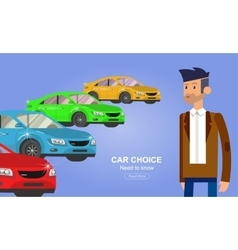 Used cars reselling concept with hands holding vector