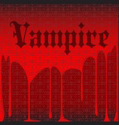 Vampire background vector