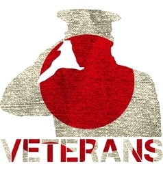 veterans flag sign vector image