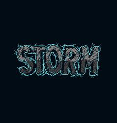 Vintage storm inscription template vector