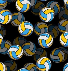 Volleyball 3d seamless pattern Sports accessory vector image