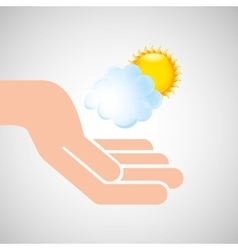 weather concept forecast cloud sun icon design vector image