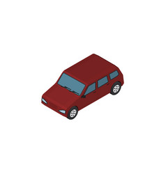 isolated sedan isometric car element ca vector image